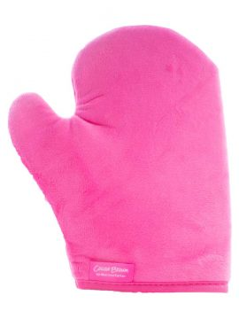 Cocoa Brown Double Sided Velvet Tanning Thumb Mitt