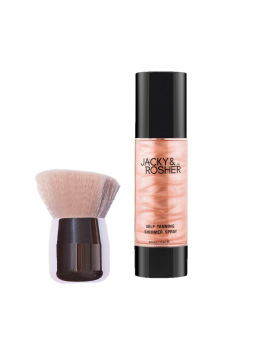 Jacky & Rosher Shimmer Spray + Kabuki Brush